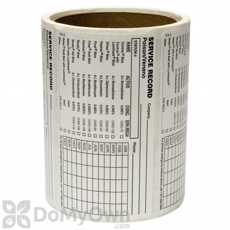 Protecta Bait Station Service Labels - Roll of 100