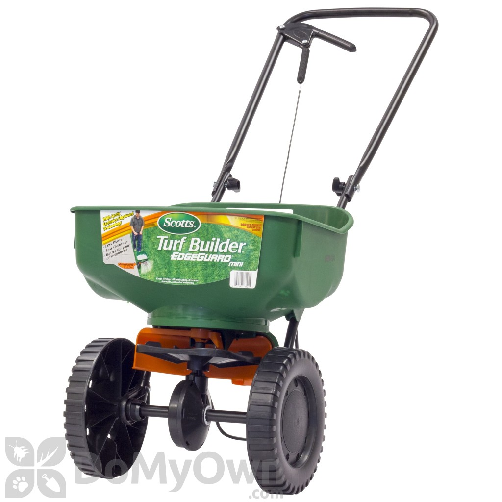 Broadcast Spreader Turf : Scotts turf builder edgeguard mini broadcast spreader