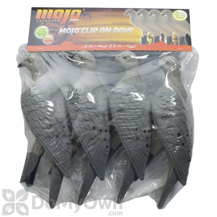 MOJO 4-pack Dove Clip-On