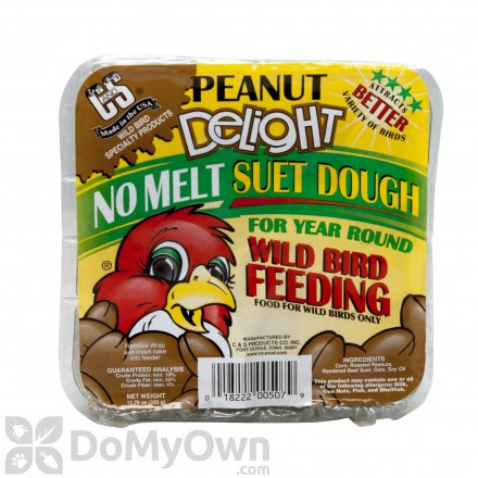 C&S Products Peanut Delight No Melt Suet Dough (507) - SINGLE