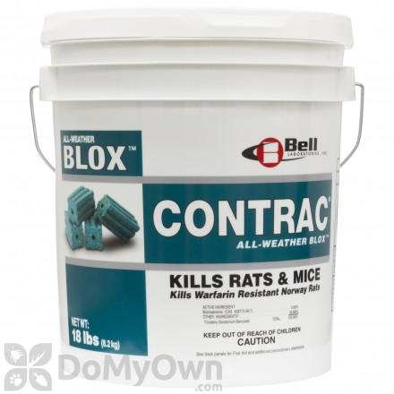 Contrac All-Weather Blox Rodenticide 18 lbs.