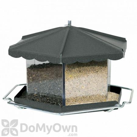 Homestead Bronze Triple Bin Party Bird Seed Feeder 11.5 lb. (3506)