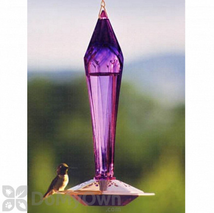 Schrodt Faceted Amethyst Hummingbird Feeder 12 in. (FGHFA)