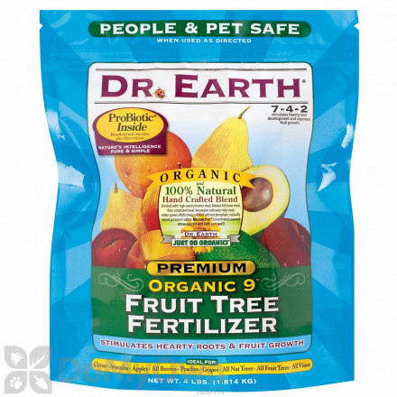 Dr Earth Organic 9 Fruit Tree Fertilizer Poly Bag 4 lb