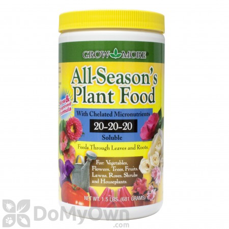 Grow More All - Season\'s Plant Food Fertilizer 20 - 20 - 20