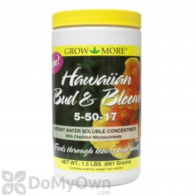 Grow More 5-50-17 Hawaiian Bud & Bloom Fertilizer