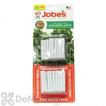 Jobe\'s Houseplant Fertilizer Spikes 13-4-5 (50 Pack)