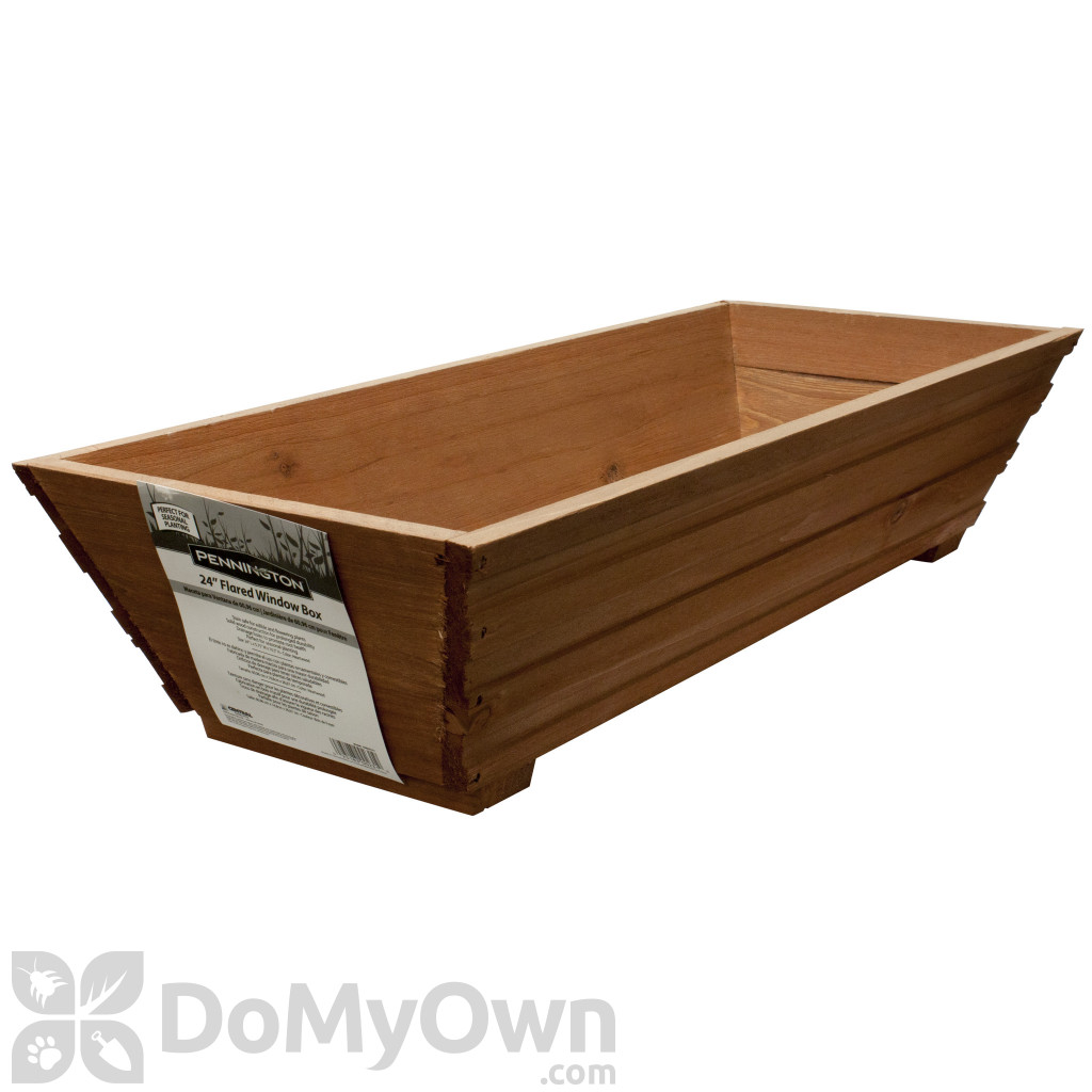 Matthews Four Seasons Flared Window Box Heartwood With Planter Guard