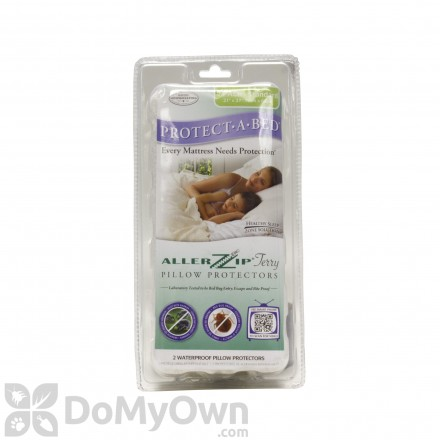 Protect-A-Bed AllerZip Pillow Covers - Standard (Pack of 2)