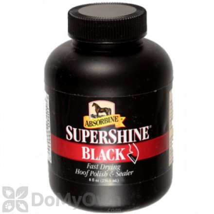Absorbine SuperShine Black Hoof Polish and Sealer