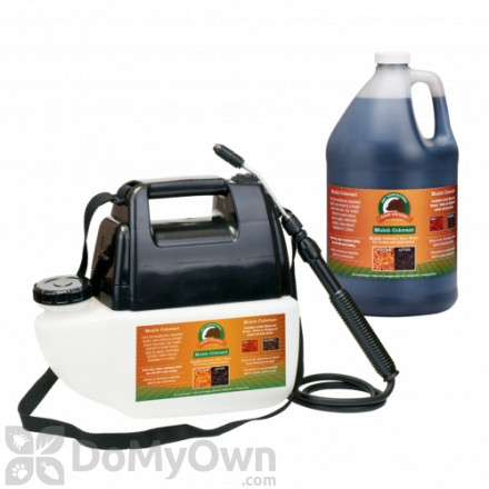 Bare Ground Just Scentsational Bark Mulch Colorant with Battery Powered Gallon Sprayer