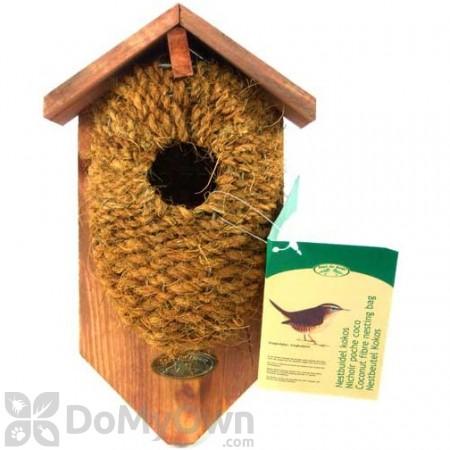 Best For Birds Nest Pocket Coconut Fiber Bird House with Roof (BFBNKBC)