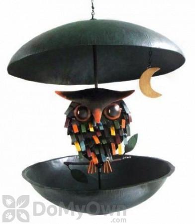 Blue Handworks Spiky Owl Bistro Bird Feeder (GEBLUEG425)