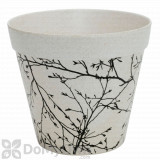 Bloem Eco Pot Planter Antique White with Black Whimsical Pattern - 7.5 in.