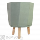 Bloem Eco Self-Watering Modern Planter Pot with Wood Leg Stand