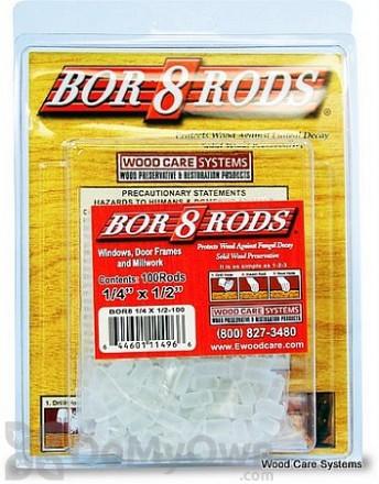 "Bor8 Rods 1/4"" x 1/2"""