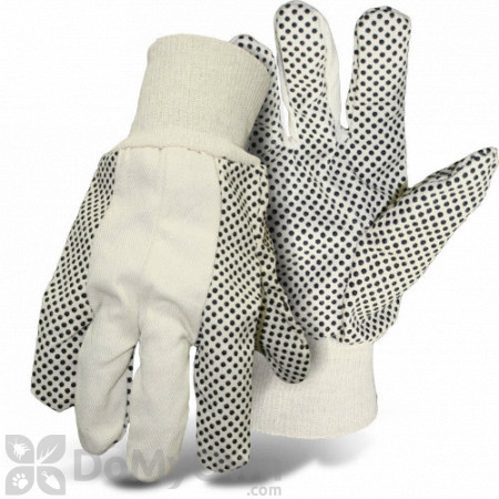 Boss Men\'s Indoor and Outdoor Poly / Cotton Blend Dot Gloves (4011) - Size Large