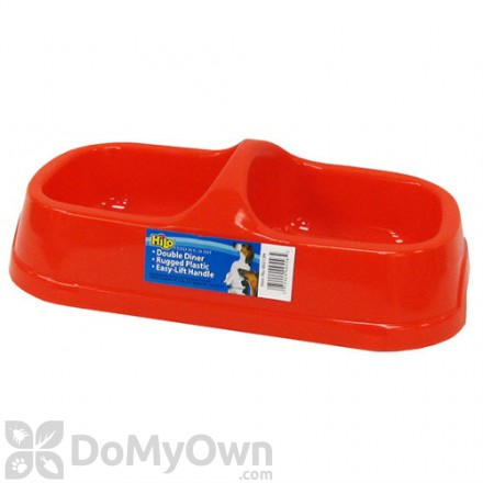 Boss Pet Hilo Rugged Plastic Double Diner