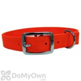 Boss Pet PDQ 1 in. x 18 in. Double Nylon Collar - Neon Orange