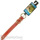 Boss Pet PDQ Double Studded Leather Collar 1 in. x 21 in.