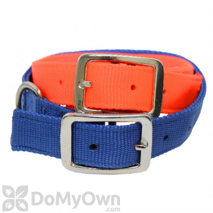 Boss Pet PDQ Double Nylon Hunting Collar 1 in. x 20 in. - Blue