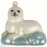 Cobane Baby Harp Seal Ornament