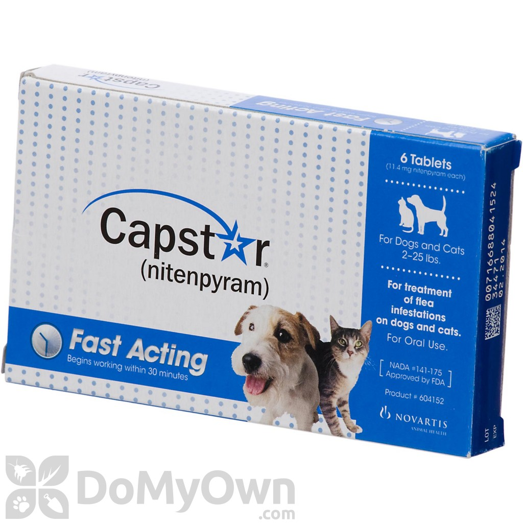 Capstar Tablets For Dogs And Cats 2 25 Lbs