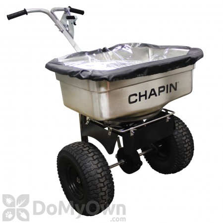 Chapin Professional Salt / Halite / Ice Melt 100 lb Stainless Steel Hopper Spreader 82500B