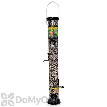 Droll Yankees ONYX Sunflower or Mixed Seed Bird Feeder with Removable Base 24 in. (CC24S)