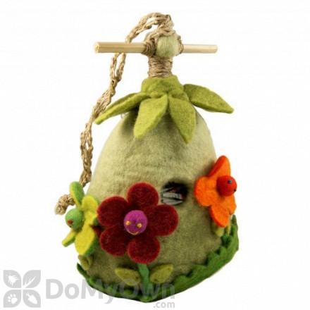 DZI Handmade Designs Friendly Flower Felt Bird House (DZI484016)