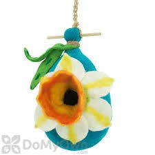 DZI Handmade Designs Daffodil Felt Bird House (DZI484034)