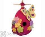 DZI Handmade Designs Butterfly Felt Bird House (DZI484041)