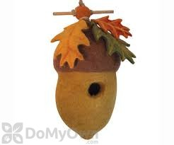DZI Handmade Designs Pin Oak Acorn Felt Bird House (DZI484042)