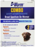 D-Worm Combo Broad Spectrum De-Wormer for Medium and Large Dogs