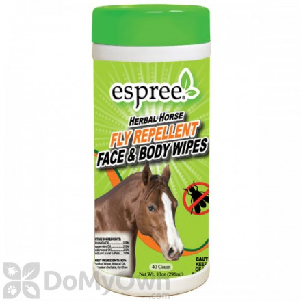 Espree Aloe Herbal Horse Fly Repellent Face and Body Wipes