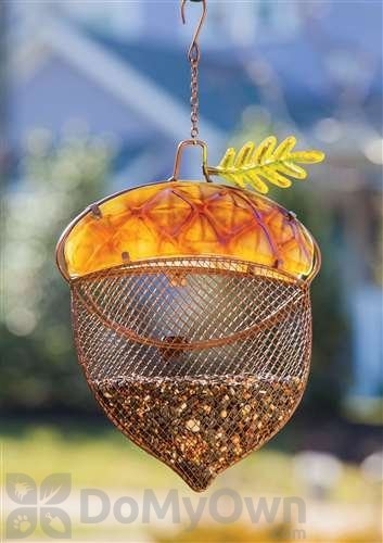 evergreen enterprises harvest shimmer acorn bird feeder