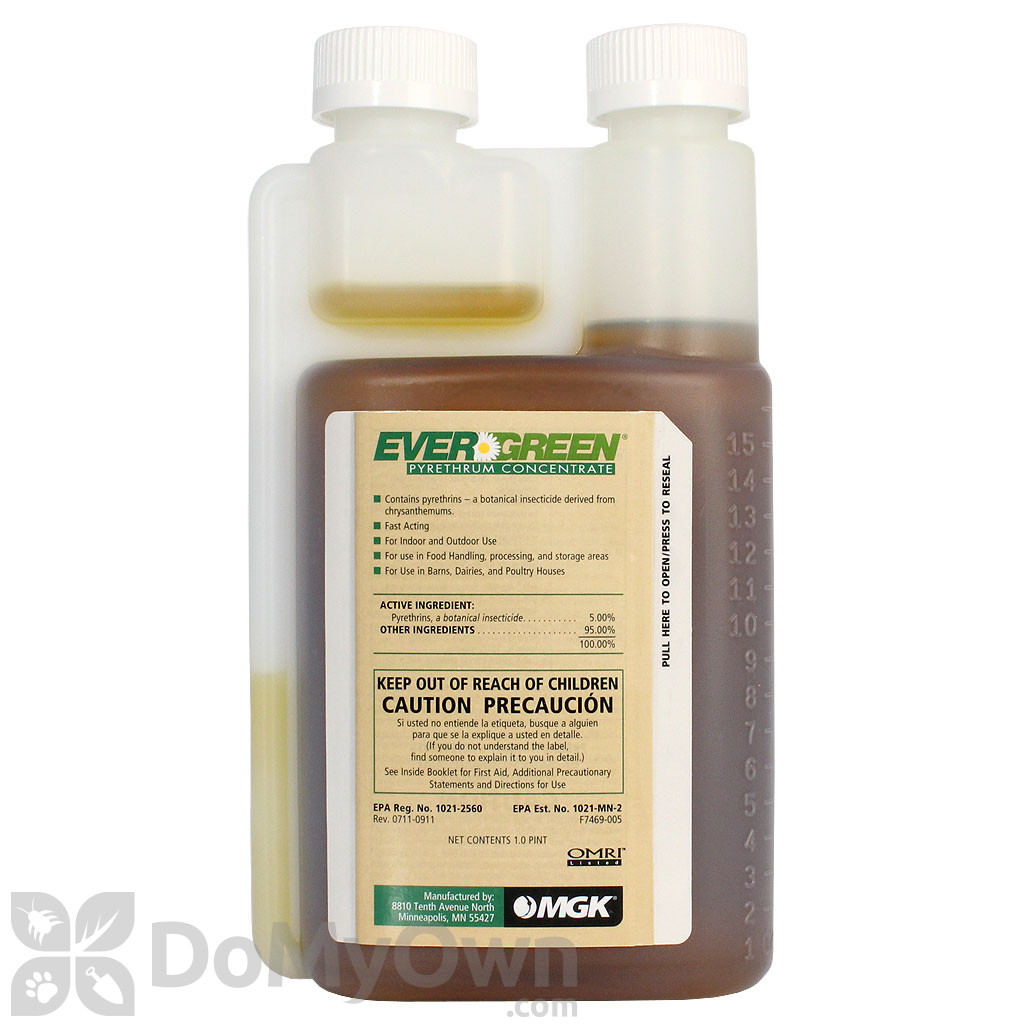 Evergreen Pyrethrum Concentrate Pyganic Pro 5 Pyrethrin Concentrate