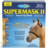Farnam SuperMask II Horse Fly Mask Shimmer Weave - Copper/Black (Horse)