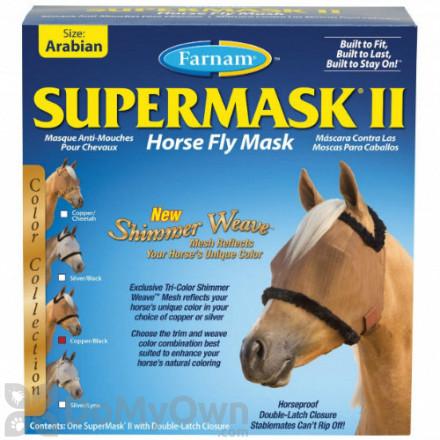 Farnam SuperMask II Horse Fly Mask Shimmer Weave