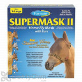 Farnam SuperMask II Horse Fly Mask Shimmer Weave with Ears - Copper/Cheetah (X-Large)