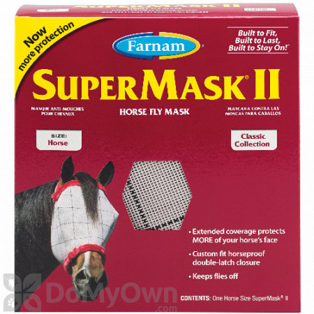 Farnam SuperMask II Horse Fly Mask - Horse
