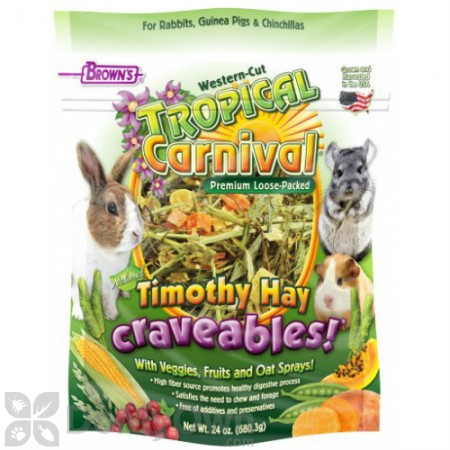FM Browns Tropical Carnival Natural Timothy Hay Craveables