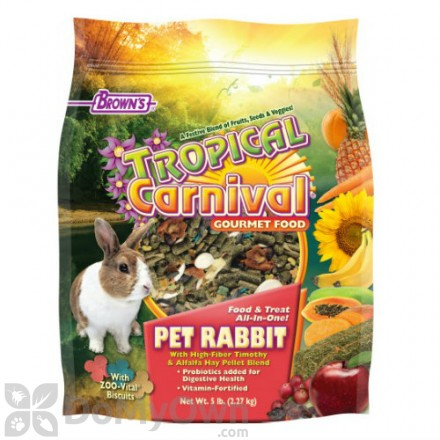 FM Browns Tropical Carnival Gourmet Pet Rabbit Food