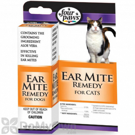 Four Paws Aloe Earmite Treatment for Cats