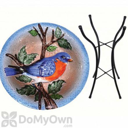 Songbird Essentials Bluebird Bird Bath with Stand