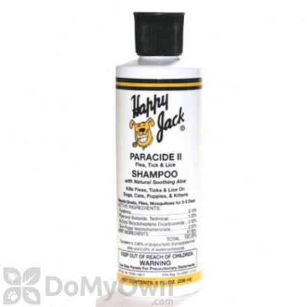 Happy Jack Paracide II Flea And Tick Shampoo