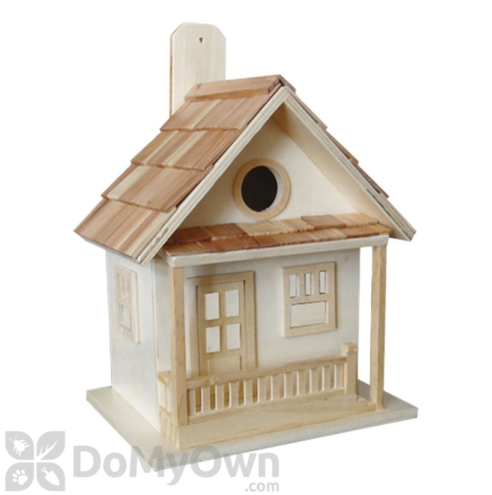Professional Guaranteed House Painting Western Springs: Home Bazaar Natural Wood Little Cabin Bird House (HB7028N