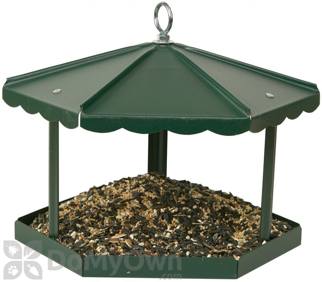 feeder angle wood luxurious gazebo copper right woodlink with copgazebo by p bird shop top logo coppertop