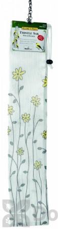 Homestead Yellow Floral Thistle Sak Finch Feeder 22 in. (3710)