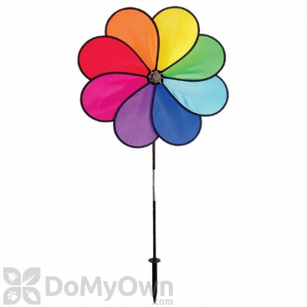 In The Breeze Rainbow Dazy Petal Spinner Ground Decor - Large (ITB2803)